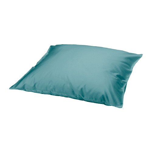 "Gäspa (Gaspa) Turquoise Blue Pillowcase - 26""X26"", 100% Cotton - Ikea"