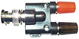 Mueller Electric - Bu-P1296 - Adapter, Bnc Plug-Double Binding Post