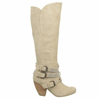 Not Rated Women'S Cocktail Queen Riding Boot,Cream,6 M Us