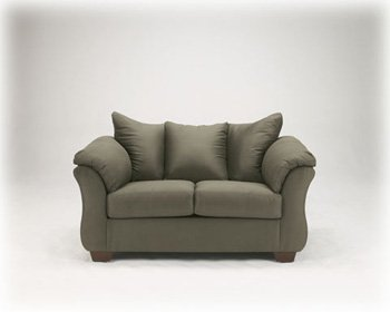 DARCY SAGE LOVESEAT BY ASHLEY