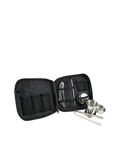 Steve Madden Travel Bar Set, Black