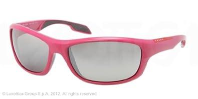 Sunglasses Prada Linea Rossa PS 04NS MAA4S1 FUXIA GRAY GRADIENT MIRROR SILVER