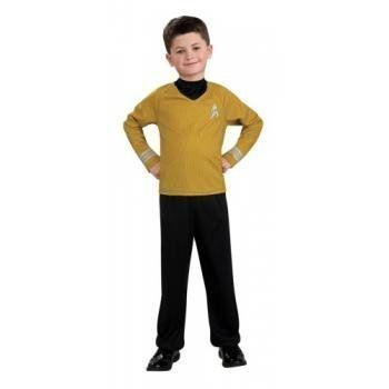 Star Trek Movie Child's Gold Shirt Costume with Dickie and Pants, Large