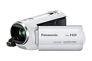 Panasonic HC-V210EG-W Camcorder (MOS-Sensor, 10 Megapixel Foto Auflösung , Full HD, 38-fach opt. Zoom, 72-fach int. Zoom, USB 2.0) weiß