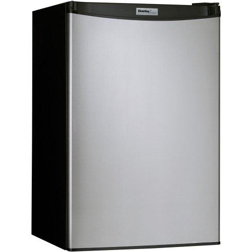 Danby DCR122BSLDD 4.3 Cu. Ft. Designer Compact Refrigerator - Black/Stainlees Steel