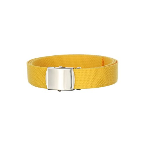 Solid Color Military Canvas Web Belt One Size Fits All - Bright Yellow