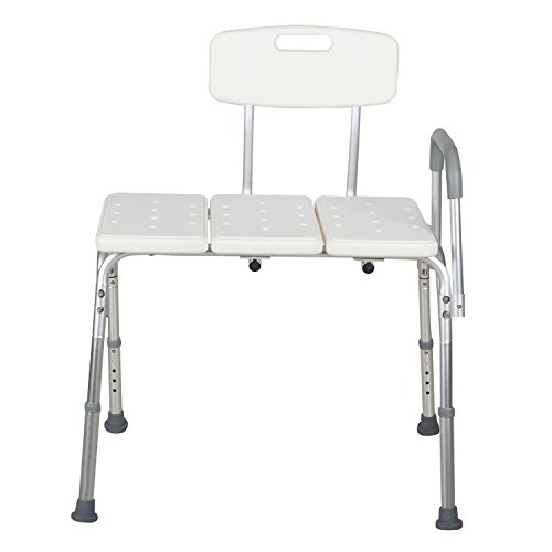 Medical Shower Chair 10 Height Adjustable Bath Tub Bench Stool Seat Back And Arm Seniors Emporium