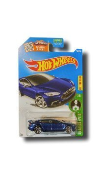 Hot Wheels, 2016 HW Green Speed, Tesla Model S [Blue] Die-Cast Vehicle # 242/250 (Tesla Model S compare prices)