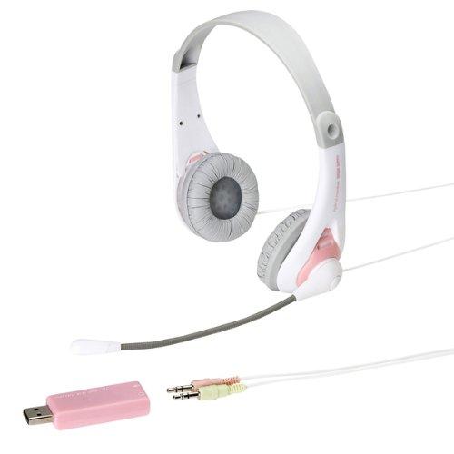【Amazonの商品情報へ】SANWA SUPPLY MM-HSUSB14P USB対応ヘッドセット ピンク