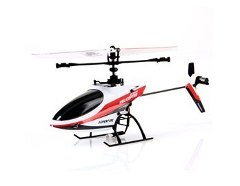 Great Wall 9958 2.4GHz 4-Channel R/C Remote Control Alloy Helicopter with Single Propeller (Red) + Worldwide free shiping