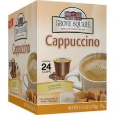GROVE SQUARE CARAMEL CAPPUCCINO 96 Single serve cups