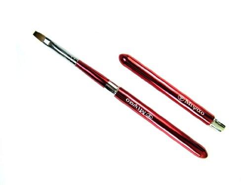 宮尾産業化粧筆 MKシリーズー2 ドーム型携帯用リップブラシ レッド セーブル100% 熊野筆