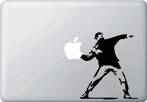MacBook 対応 アートステッカー - Molotov Guy Throwing Apple - 【並行輸入品】