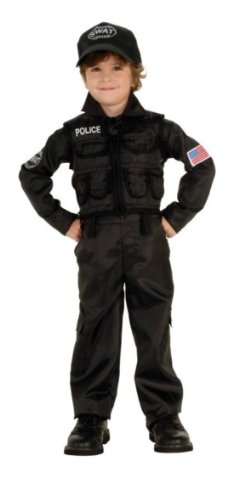 Policeman Swat Child Sm Kids Boys Costume