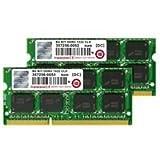 【4GB×2】トランセンド 永久保証 ノート用 DDR3 1333Mhz SO-DIMM 204pin PC3-10600 2枚組 JM1333KSN-8GK