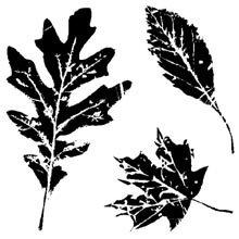 Inkadinkado Clear Mini Stamps, Leaves