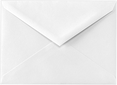 White Baronial 50 Boxed Lee A7 size Envelopes Pointed Flaps for 5 X 7 Greeting Cards, Invitations, Weddings Birth Announcements Showers from The Envelope Gallery