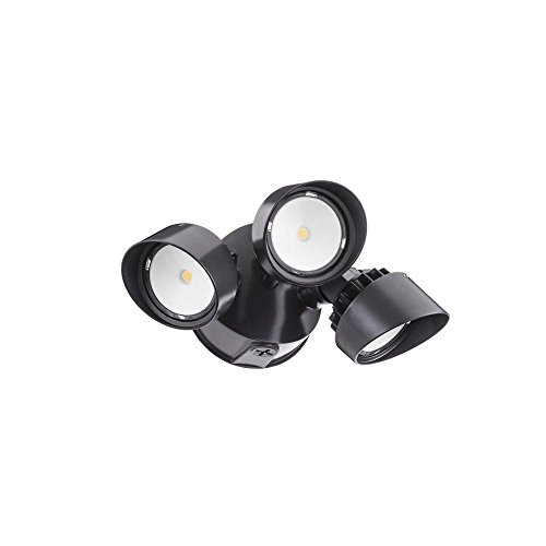Lithonia Lighting OLF 3RH 40K 120 BZ M4 3-Head Outdoor LED Round Flood Light, Black/Bronze (Lithonia Outdoor Led compare prices)