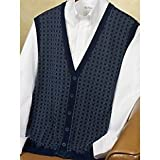 Birdseye Silk/Cotton Cardigan Vest