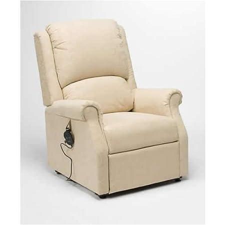 Rise Recline Armchair Cream Fabric Chicago