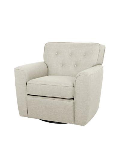 Baxton Studio Canberra Modern Upholstered Glider Lounge Chair
