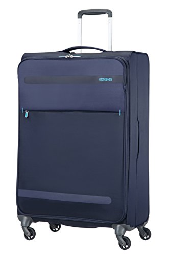 American Tourister Herolite Super Light Spinner Valigia, 74 cm, 95 litri, Midnight Blue