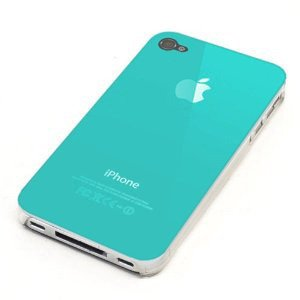 iPhone 4, iPhone 4S Hard Plastic Cover Back Case Turquoise