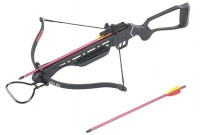 150lb Crossbow Fiberglass Stock Aluminum 2 Arrows