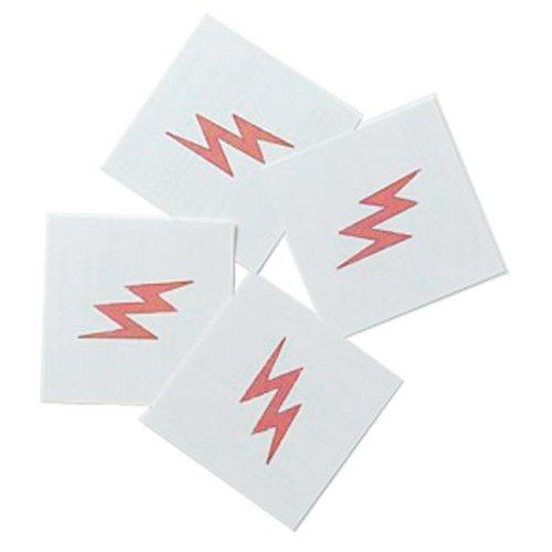 Lightning Bolt Tattoos (8 count)