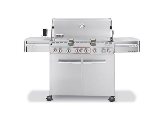 Weber 2780001 Summit S-670 Grill, Propane, Stainless Steel