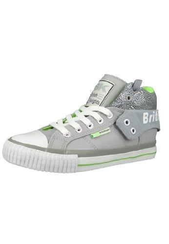 British Knights BK Sneaker ROCO B33-3743 LT Grey Neon Green, Größe:38 EU / 5 UK / 6 US
