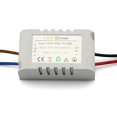 Gg Ac 85-277V To Dc 18-36V 6-10X1W Led External Drive With Case For Celling Light Power Supply