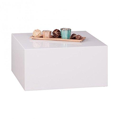 WOHNLING-Couchtisch-Mono-bloc-MDF-Holztisch-wei-60-cm-breit-Design-Wohnzimmer-Tisch-modern-Beistelltisch-quadratisch-Cube-Hochglanz-Wohnzimmermbel-stylisch-Lounge-hochwertig-Holztisch-glnzend-glatt