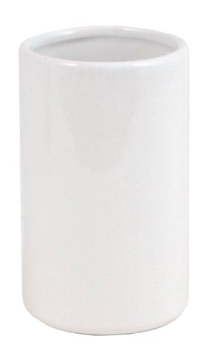 Kiera Grace Ceramic Tumbler, 4.5 by 3 Inch, White (Blue White Ceramic Espresso Cups compare prices)