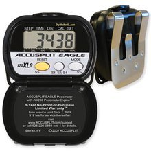 B0007ZGZFM ACCUSPLIT AE170 Pedometer with Steps, Distance, and Calories Burned