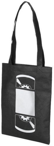 Video Tape Cassette Black A4 Shopper Premium Tote Eco Shoulder Bag - Low Cost - Unisex design