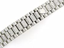 Ladies 18kw Diamond President Watch Band for Rolex 13mm