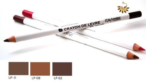 Itay Mineral Cosmetics Set of 3 Lip Liner Pencils (2,8,11) + Cala Dual Pencil Sharpener