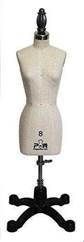 Professional Miniature Half Scale Dress Form Mannequin Half Scale Sizes 0/2-10 (8) (Professional Dress Form 0 compare prices)