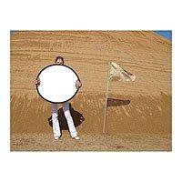 California Sunbounce Sun Mover, Circular Collapsible Disc Zebra / White Seamless Reflector 32