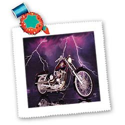 3drose qs_8332_1 Picturing Harley-Davidson and No.174 Motorcycle Square Quilt Sheet, 10 by 10-Inch