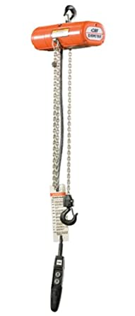 CM 2039 3-Phase Single Speed ShopStar Electric Chain Hoist, 600 lbs Capacity, 15' Lift Height, 8 fpm Lift Speed, 1/6HP, 460V/60Hz
