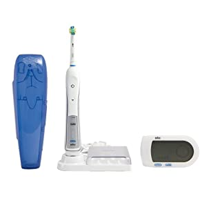 Oral-B Professional Healthy Clean + Floss Action Precision 5000 Rechargeable Electric Toothbrush 1 Count