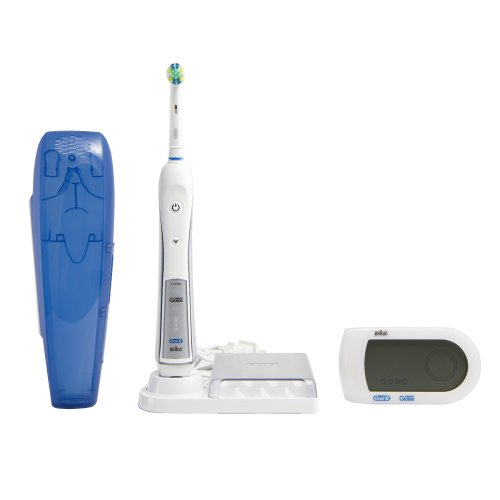 Oral-B Professional Healthy Clean + Floss Action Precision 5000 Rechargeable Electric Toothbrush And Refill Brush Head 1 Count
