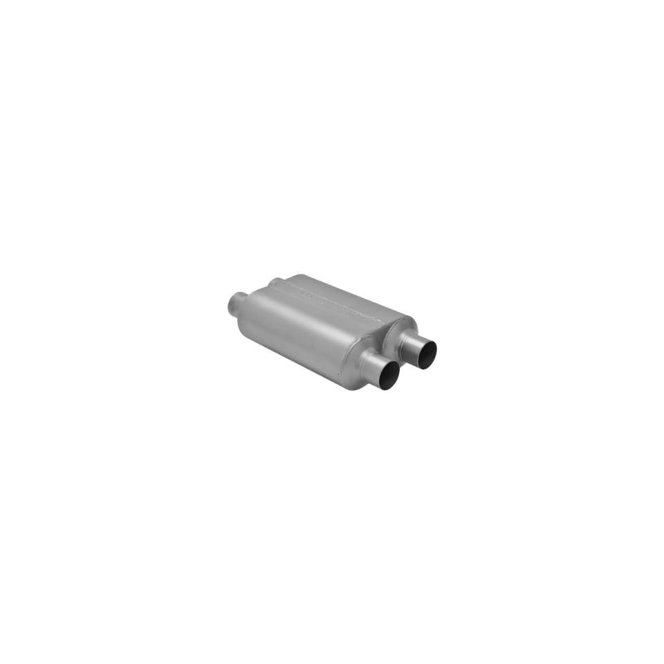 "Flowmaster 842546 Super 44 Muffler 2.5/"" Offset Inlet//Center Outlet 409S SS"