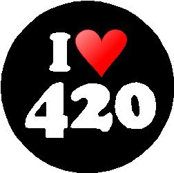 I Love 420 1.25″ Magnet (heart) – April 4 20