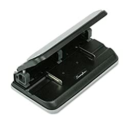 Swingline - 32-Sheet Easy Touch Three- To Seven-Hole Punch 9/32\