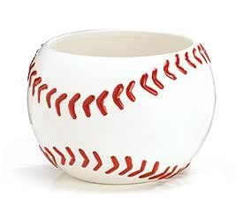 Large Baseball Container/Candy Dish/Planter Or Centerpiece
