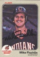 Mike Fischlin Cleveland Indians 1983 Fleer Autographed Hand Signed Trading Card. by Hall+of+Fame+Memorabilia