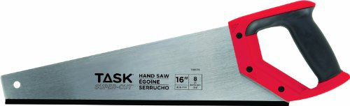 Task Tools T88016  16-Inch  8-Point Super Cuts Handsaw,  Rubber Grip